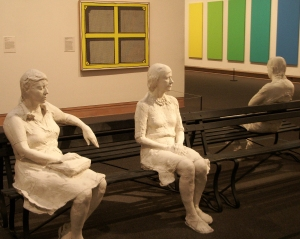 George Segal, Three People on Four Benches, 1979, Metropolitan Museum of Art, photo by author
